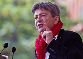 French presidential candidate Jean-Luc Mélenchon