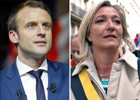 Emmanuel Macron (left) and Marine Le Pen
