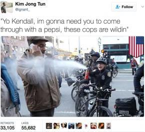 The meme of Jesse Hagopian being pepper sprayed