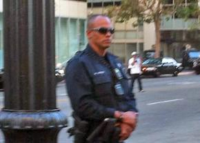 Killer cop Miguel Masso photographed by activists in downtown Oakland