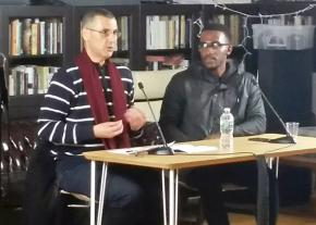 BDS co-founder Omar Barghouti (left) and Black liberation activist Nyle Fort
