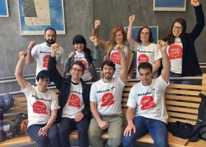 Student employees at the New School in New York City campaign for a union