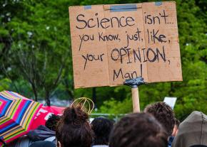 On the march in defense of science in Washington, D.C.