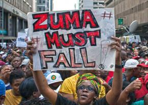 Protests erupt in South Africa against President Jacob Zuma