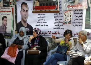 Showing solidarity with the Palestinian political prisoners on hunger strike