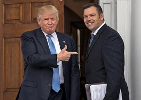 Donald Trump and Kansas Secretary of State Chris Kobach