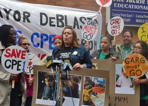 Parents and teachers rally to save CPE1 in East Harlem