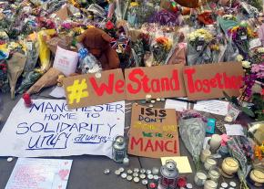 A shrine for the victims of the Manchester attack in St. Anne's Square
