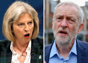 Theresa May (left) and Jeremy Corbyn