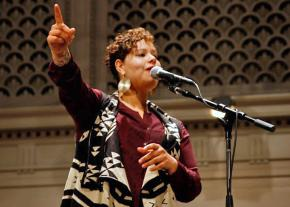 Activist and artist Nikkita Oliver of the People's Party in Seattle