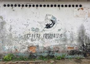 Graffiti on a wall in Cuba