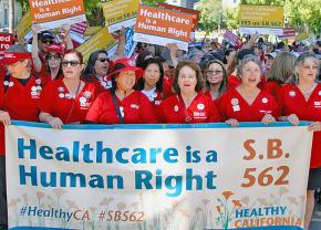 California nurses take to the streets to demand universal health care