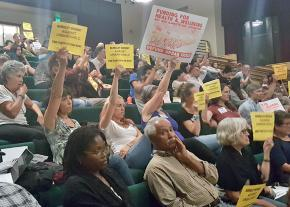 Protesting Urban Shield at a Berkeley City Council meeting