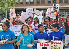 Students, teachers and community members demand increased funding for Chicago schools