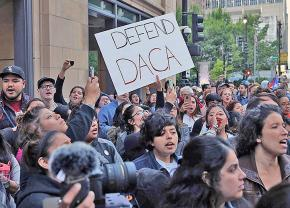 Students and workers march to defend DACA in Chicago