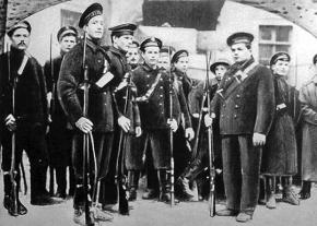 Sailors at the Kronstadt base during the Russian Revolution