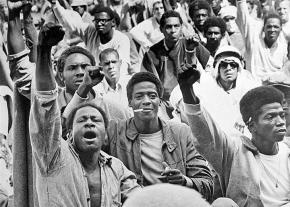 Prisoners during the Attica Uprising of 1971