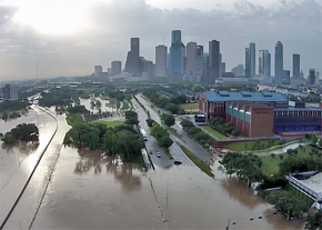 Downtown Houston is inundated after Hurricane Harvey