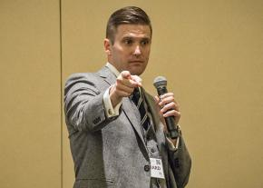 White supremacist leader Richard Spencer speaks in Washington, D.C.