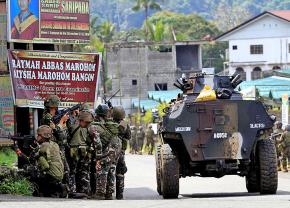 Philippines troops on the streets of Marawi