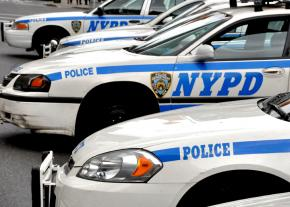 New York Police Department squad cars