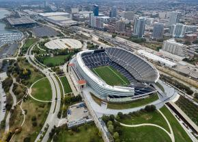 Soldier Field on Chicago's lakefront