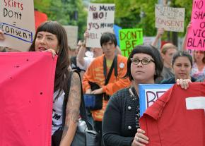 Marching against sexual violence in Seattle