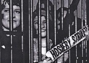 Striking hosiery workers behind bars in 1930s Philadelphia
