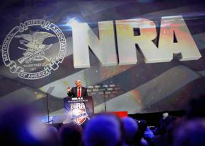 Donald Trump speaks at a convention of the National Rifle Association