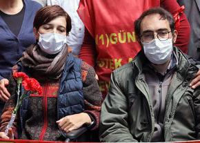 Educators Nuriye Gülmen (left) and Semih Özakca continue their hunger strike against repression in Turkey