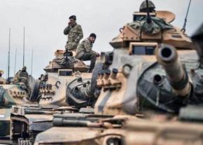 Turkish military forces participate in the invasion of Afrin