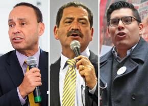 "Left to right: Luis Gutiérrez, Jesus ""Chuy"" Garcia and Carlos Ramirez-Rosa"