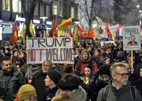 Thousands march in Zurich, Switzerland, against Trump and the 2018 World Economic Forum