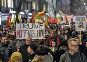 Thousands march in Zurich, Switzerland, against Trump and the 2018 World Economic Forum