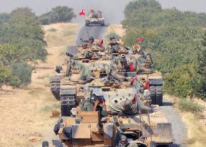Turkish tanks roll into Syria as part of an assault on the Kurdish region of Afrin