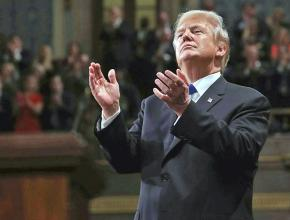 Donald Trump during his State of the Union address
