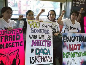 Immigrant rights activists rally in defense of DREAMers in the Bronx