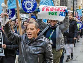 Attorneys and legal workers rally to get ICE out of New York City's courthouses