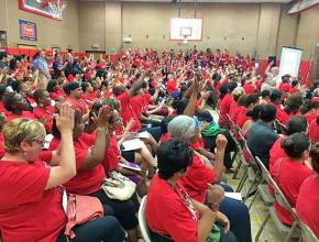 Teachers in Jersey City rally against threats of disciplinary action