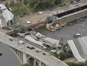 A bridge over the Mississippi River in Minneapolis collapsed in 2007, killing 13 people.