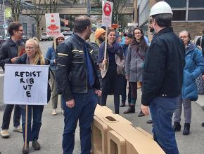 Members of the adjunct faculty union at Portland State University demand justice