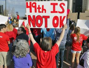 Oklahoma teachers rally for better conditions
