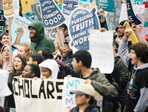 Protesters take to the streets of Washington, D.C., during the 2017 March for Science