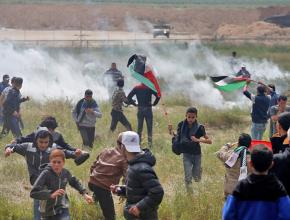 Israeli forces attack Palestinian protesters during Land Day demonstrations in Gaza