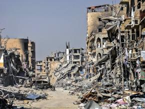 Devastation in the war-ravaged city of Raqqa in Syria