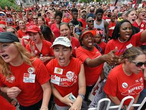 North Carolina teachers descend on the state Capitol to demand funding for public education