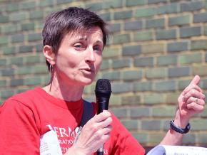 Nurse practitioner and union activist Tristin Adie