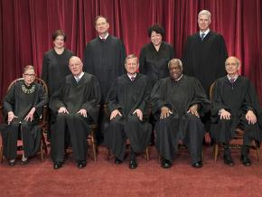 The nine justices of the U.S. Supreme Court
