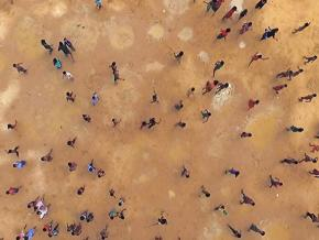An image from Ai Weiwei's film Human Flow