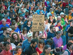 One of the hundreds of events in solidarity with Charlottesville in Madison, Wisconsin